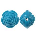 Beads Solid Color akrilik, Lule, asnjë, ngjyra të forta, Skyblue, 20x17mm, : 2.5mm, 170PC/Qese,  Qese