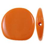 Beads Solid Color akrilik, Nuggets, asnjë, ngjyra të forta, portokalli thellë kuqalashe, 23x22.50x5.50mm, : 2mm, 330PC/Qese,  Qese