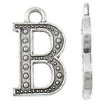 Pendants alfabet Zink Alloy, Alloy zink, Letër, Ngjyra antike argjendi praruar, asnjë, asnjë, , nikel çojë \x26amp; kadmium falas, 13x22x2mm, : 3mm, 555PC/KG,  KG