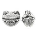 Beads Alloy zink Kafshëve, Bretkocë, Ngjyra antike argjendi praruar, asnjë, asnjë, , nikel çojë \x26amp; kadmium falas, 9x8x7mm, : 2mm, 666PC/KG,  KG