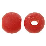 Akrilik Beads i mbuluar me brymë, Round, asnjë, i kuq, 6mm, : 2mm, 4200PC/Qese,  Qese
