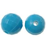 Beads Solid Color akrilik, Round, asnjë, ngjyra të forta, blu, 8mm, : 1.8mm, 2080PC/Qese,  Qese