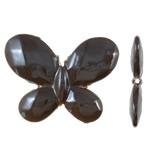 Beads UV akrilik Plating, Flutur, Plating UV, asnjë, ngjyrë kafe, 30x23x4.50mm, : 2mm, 290PC/Qese,  Qese
