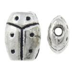 Beads Alloy zink Kafshëve, Mollëkuqe, Ngjyra antike argjendi praruar, asnjë, asnjë, , nikel çojë \x26amp; kadmium falas, 5.50x7.50x3mm, : 1mm, 2500PC/KG,  KG