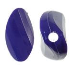 Beads Solid Color akrilik, Kthesë, asnjë, ngjyra të forta, vjollcë, 17x33x8.50mm, : 2.5mm, 145PC/Qese,  Qese