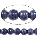 Plattierte Lampwork Perlen, rund, violett, 16mm, Bohrung:ca. 1-2.5mm, Länge:ca. 12.8 ZollInch, 10SträngeStrang/Tasche, verkauft von Tasche
