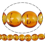 Plattierte Lampwork Perlen, flache Runde, Orange, 16x8.5mm, Bohrung:ca. 1.5-2.5mm, Länge:ca. 14.5 ZollInch, 4SträngeStrang/Tasche, verkauft von Tasche
