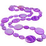 Necklaces Shell, Predhë, Oval Flat, i lyer, asnjë, vjollcë, 18-30mm, :31Inç,  31Inç,