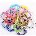 Elastike Hair, Plastik, Shape Tjera, elastik, asnjë, ngjyra të përziera, approx 40mm, 100Fillesat/Qese,  Qese