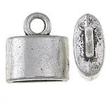 Zink Alloy Cap Fundi, Alloy zink, Shape Tjera, Ngjyra antike argjendi praruar, asnjë, asnjë, , nikel çojë \x26amp; kadmium falas, 12x10x5mm, : 3mm, : 8x3mm, 909PC/KG,  KG