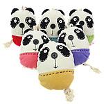 Çanta kyçe, Velveteen, Panda, asnjë, ngjyra të përziera, 120x120x50mm 225mm, 10PC/Shumë,  Shumë
