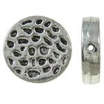 Zinklegierung flache Perlen, flache Runde, antik silberfarben plattiert, frei von Nickel, Blei & Kadmium, 16x4mm, Bohrung:ca. 1mm, ca. 250PCs/kg, verkauft von kg