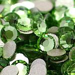 Cabochons Crystal, Kristal, Kube, i praruar, asnjë, Drita Emerald, Një, 3.8-4.0mm, 10Grosses/Qese,  Qese
