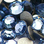 Cabochons Crystal, Kristal, Kube, i praruar, asnjë, Lt Sapphire, Një, 3.8-4.0mm, 10Grosses/Qese,  Qese