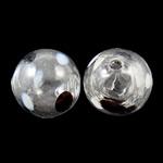 Mundgeblasene Lampwork Perlen, rund, handgemacht, hohl, 12mm, Bohrung:ca. 1.5-3mm, 50PCs/Tasche, verkauft von Tasche