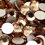 Cabochons Crystal, Kristal, Kube, i praruar, asnjë, Topaz, Një, 4.6-4.8mm, 10Grosses/Qese,  Qese