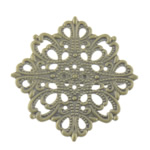 Gjetjet karficë tunxh, with Hekur, Shape Tjera, Ngjyra antike bronz i praruar, filigran, asnjë, , nikel çojë \x26amp; kadmium falas, 42.50x42.50mm, 100PC/Qese,  Qese