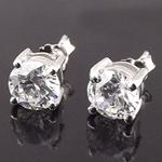 Bizhuteri Vath, 925 Sterling Silver, Lule, asnjë, me diamant i rremë, asnjë, 8mm,  Palë