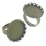 Bezel Brass Ring Base, Tunxh, Shape Tjera, Ngjyra antike bronz i praruar, asnjë, asnjë, , nikel çojë \x26amp; kadmium falas, 20.50x20.50x2.50mm, : 19.5x19.5, 17mm, :5.5, 200PC/Qese,  Qese