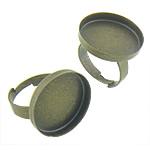 Bezel Brass Ring Base, Tunxh, Shape Tjera, Ngjyra antike bronz i praruar, asnjë, asnjë, , nikel çojë \x26amp; kadmium falas, 26x26x3.50mm, : 25x25, 17mm, :6, 200PC/Qese,  Qese