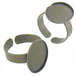 Bezel Brass Ring Base, Tunxh, Shape Tjera, Ngjyra antike bronz i praruar, asnjë, asnjë, , nikel çojë \x26amp; kadmium falas, 13.40x18.30x1mm, : 13x17.8, 18.5mm, :7.5, 500PC/Qese,  Qese