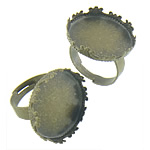 Bezel Brass Ring Base, Tunxh, Shape Tjera, Ngjyra antike bronz i praruar, asnjë, asnjë, , nikel çojë \x26amp; kadmium falas, 21.50x21.50x4.50mm, : 20.5x20.5, 17.3mm, :6, 200PC/Qese,  Qese