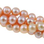 Round Beads kulturuar Pearl ujërave të ëmbla, Pearl kulturuar ujërave të ëmbla, natyror, rozë, Një, 10-11mm, : 1mm, :15.3Inç,  15.3Inç,