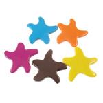 Beads pikturuar akrilik, Yll deti, pikturë, asnjë, ngjyra të përziera, 44x44x7mm, : 3.5mm, 5KG/Shumë,  Shumë