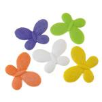 Akrilik Beads i mbuluar me brymë, Flutur, asnjë, ngjyra të përziera, 45x35x7mm, : 2.5mm, 5KG/Shumë,  Shumë