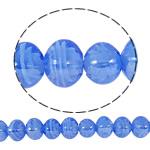 Plattierte Lampwork Perlen, Quadrat, blau, 13x14mm, Bohrung:ca. 2mm, Länge:ca. 16.5 ZollInch, 10SträngeStrang/Tasche, verkauft von Tasche