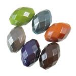 Beads plumb Zi akrilik, Oval, plumbit ngjyrë të zezë praruar, ngjyra të forta, ngjyra të përziera, 15x22mm, : 3mm, 5KG/Shumë,  Shumë