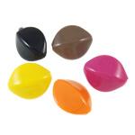 Beads pikturuar akrilik, Oval, pikturë, asnjë, ngjyra të përziera, 24x29x13mm, : 3mm, 5KG/Shumë,  Shumë