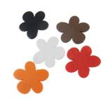 Akrilik Beads i mbuluar me brymë, Lule, asnjë, ngjyra të përziera, 45x45x6mm, : 3.5mm, 5KG/Shumë,  Shumë