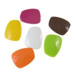 Beads Solid Color akrilik, Trapez, asnjë, ngjyra të forta, ngjyra të përziera, 23x30x8mm, : 2.5mm, 5KG/Shumë,  Shumë