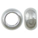 Veshura bakri Beads plastike, plastike bakrit të veshura, Rondelle, ngjyrë platin praruar, vrimë e madhe, asnjë, , nikel çojë \x26amp; kadmium falas, 10x5.50mm, : 5.5mm, 5000PC/KG,  KG