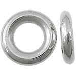 Plastike bakri veshura Linking Ring, plastike bakrit të veshura, Petull e ëmbël në formë gjevreku, ngjyrë platin praruar, asnjë, asnjë, , nikel çojë \x26amp; kadmium falas, 15x15x3mm, : 8mm, 2500PC/KG,  KG