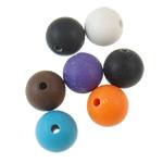 Akrilik Beads i mbuluar me brymë, Round, asnjë, ngjyra të përziera, 12mm, : 2.5mm, 5KG/Shumë,  Shumë