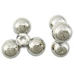 Veshura bakri Beads plastike, plastike bakrit të veshura, Shape Tjera, ngjyrë platin praruar, asnjë, asnjë, , nikel çojë \x26amp; kadmium falas, 20x19x9mm, : 2mm, 833PC/KG,  KG