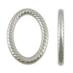 Plastike bakri veshura Linking Ring, plastike bakrit të veshura, Oval, ngjyrë platin praruar, asnjë, asnjë, , nikel çojë \x26amp; kadmium falas, 24x35x4mm, : 16x27mm, 1000PC/KG,  KG