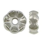 Veshura bakri Beads plastike, plastike bakrit të veshura, Rondelle, ngjyrë platin praruar, asnjë, asnjë, , nikel çojë \x26amp; kadmium falas, 21x8mm, : 2mm, 666PC/KG,  KG