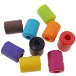 Akrilik Beads i mbuluar me brymë, Kolonë, asnjë, ngjyra të përziera, 11x15mm, : 5mm, 5KG/Shumë,  Shumë