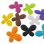 Akrilik Beads i mbuluar me brymë, Flutur, asnjë, ngjyra të përziera, 29.50x22.50x4mm, : 2mm, 5KG/Shumë,  Shumë