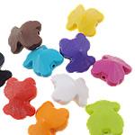 Akrilik Beads i mbuluar me brymë, Bear, asnjë, ngjyra të përziera, 20.50x25x13.50mm, : 2mm, 5KG/Shumë,  Shumë
