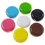 Beads pikturuar akrilik, Monedhë, pikturë, asnjë, ngjyra të përziera, 22x11mm, : 2mm, 5KG/Shumë,  Shumë