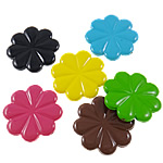 Beads pikturuar akrilik, Lule, pikturë, asnjë, ngjyra të përziera, 34x33x5mm, : 1.5mm, 5KG/Shumë,  Shumë