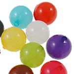 Akrilik Jelly Style Beads, Round, asnjë, Stili pelte, ngjyra të përziera, 14mm, : 2mm, 5KG/Shumë,  Shumë