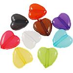 Akrilik Jelly Style Beads, Zemër, asnjë, Stili pelte, ngjyra të përziera, 13x13x5mm, : 2mm, 5KG/Shumë,  Shumë