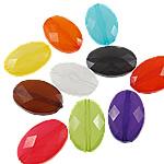 Akrilik Jelly Style Beads, Oval, asnjë, Stili pelte, ngjyra të përziera, 13x19x6mm, : 1.5mm, 5KG/Shumë,  Shumë