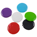 Beads Solid Color akrilik, Round Flat, asnjë, ngjyra të forta, ngjyra të përziera, 21x5mm, : 1.5mm, 5KG/Shumë,  Shumë