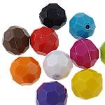 Beads Solid Color akrilik, Round, asnjë, ngjyra të forta, ngjyra të përziera, 16mm, : 2.5mm, 5KG/Shumë,  Shumë